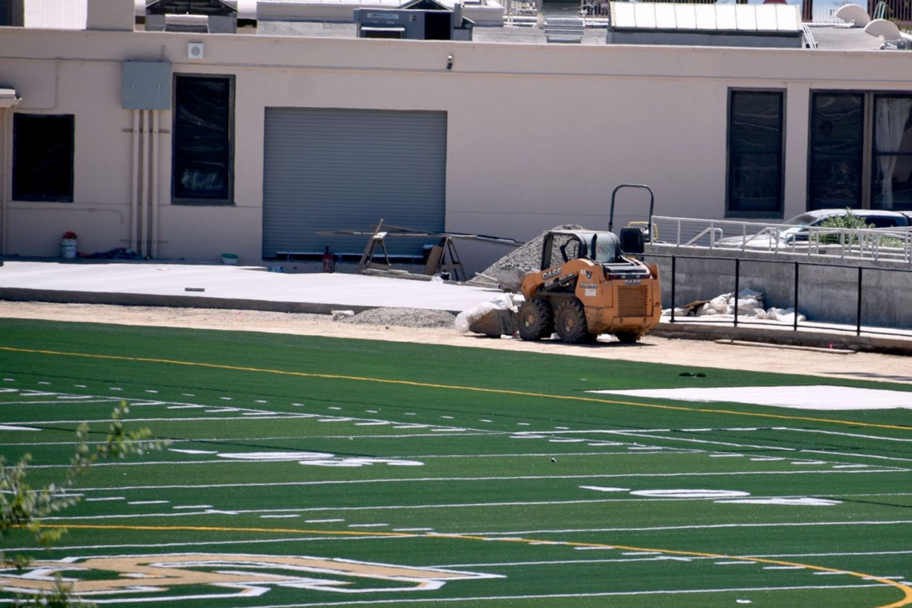 Work continues to complete the $39 million update to the nearly century-old Peabody Stadium at Santa Barbara High.