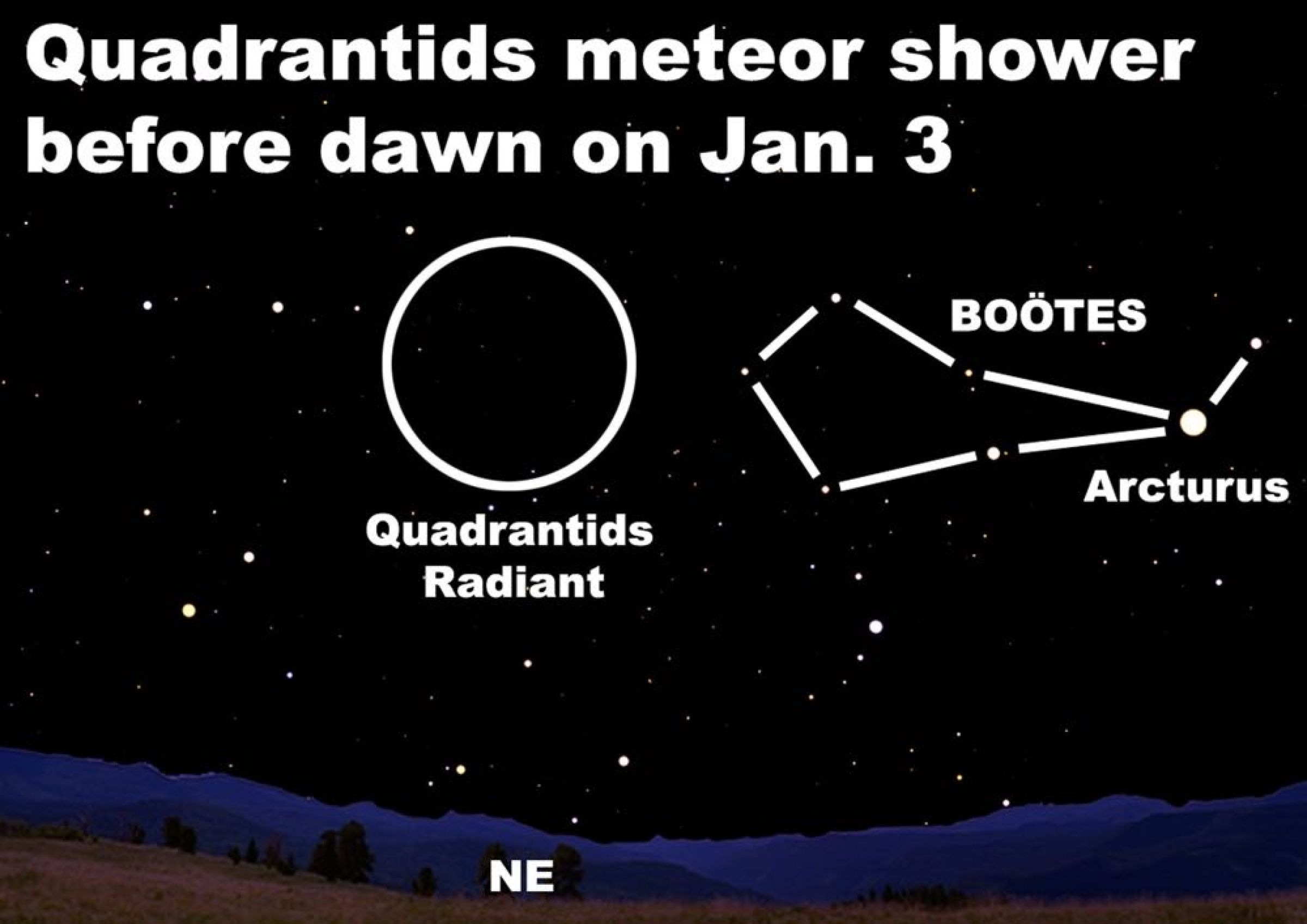 Dennis Mammana Quadrantid Meteor Shower To Launch Banner Year Of Celestial Sights Homes Lifestyle Noozhawk Com