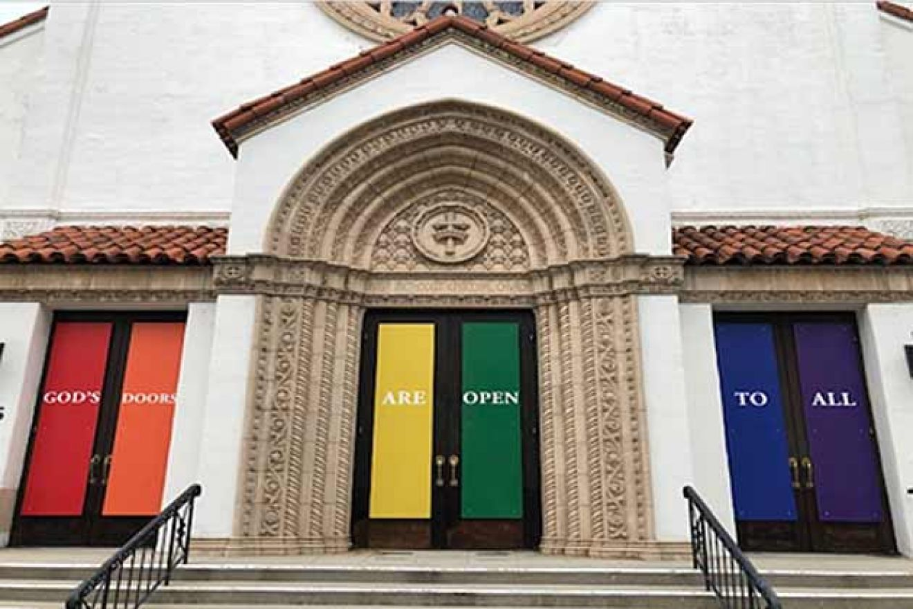First United Methodist Church Shows Its Colors With Rainbow Doors Homes Lifestyle Noozhawk Com