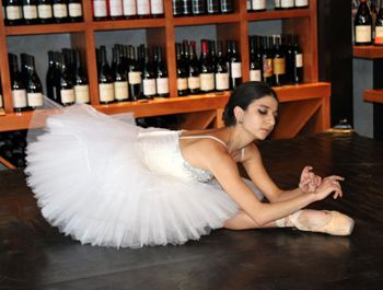 State Street Ballet dancer Lilit Hogtanian creates the likeness of a graceful swan as she dances a classic rendition of