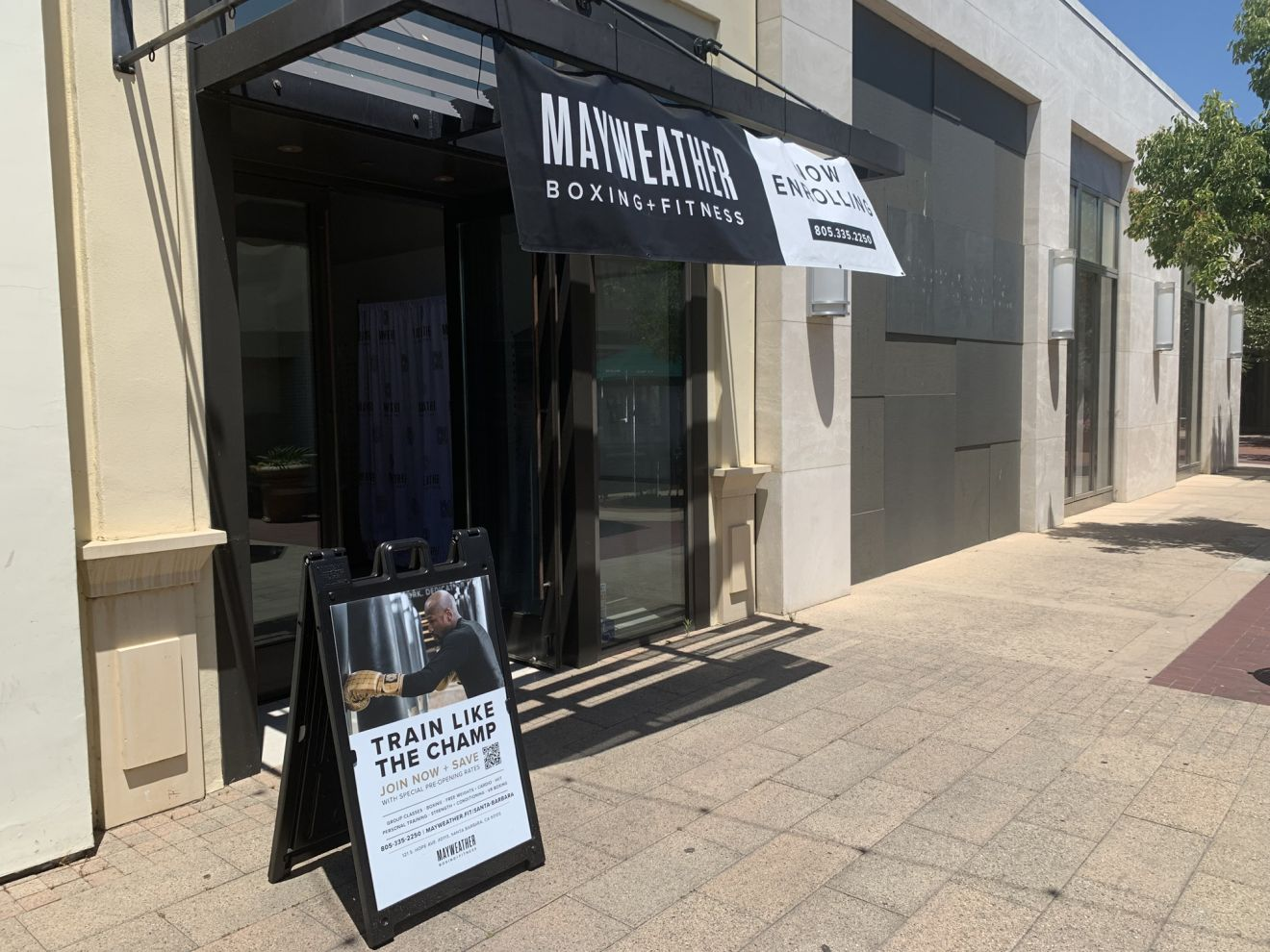 Mayweather Boxing + Fitness is set to open in Santa Barbara's La Cumbre Plaza in September.