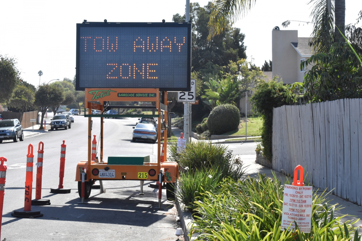 halloween-related parking restrictions, isla vista roadblocks