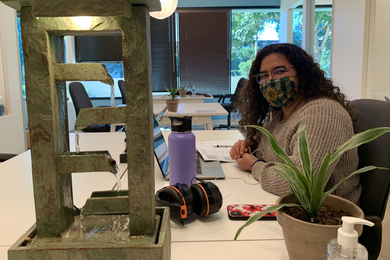 Clarissa Garcia uses the Good Space to study for the MCAT in hopes of getting into medical school.