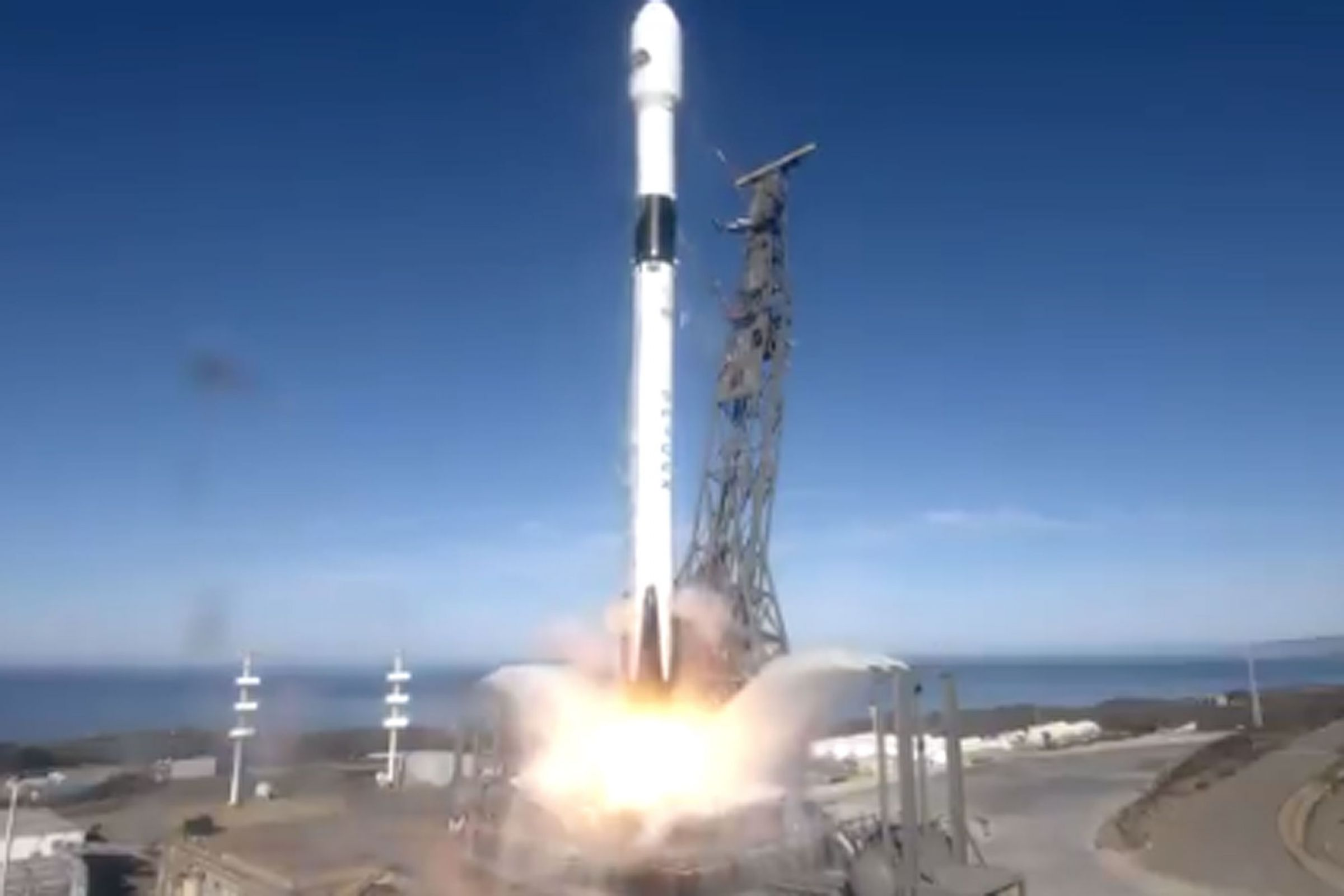 SpaceX rocket blasts UK-backed 'sea cartographer' satellite into orbit