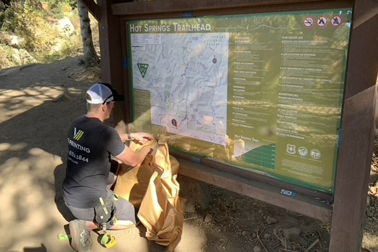 The new kiosk at the Hot Springs Canyon trailhead in Montecito.