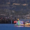 Parade of Lights Floats Around Santa Barbara Harbor