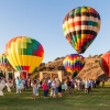 Harlequin Colors of Hot Air Balloons Radiate at Second Annual Glow in the Park