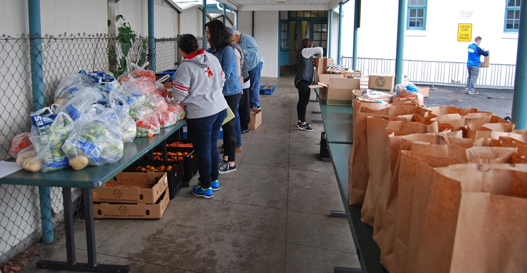 One of the Foodbank of Santa Barbara's Brown Bag Program sites is at the Goleta Valley Community Center.