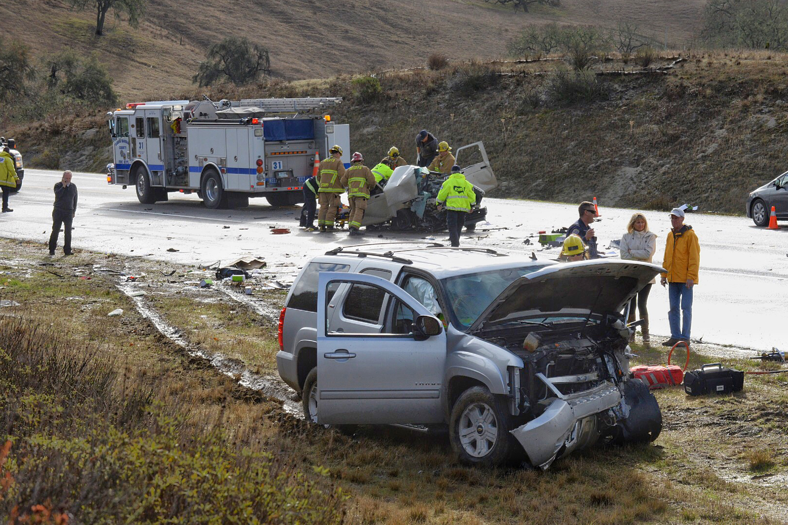 The drivers involved in a Tuesday morning collision both had to be extricated from the wreckage of their vehicles, according to the Santa Barbara County Fire Department.