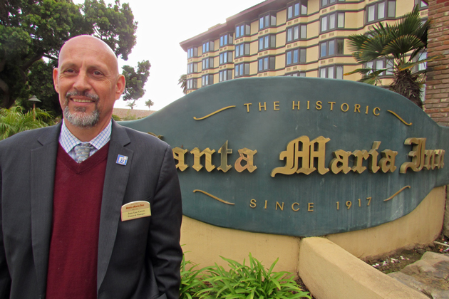 Jean-luc Garon, general manager of The Historic Santa Maria Inn, has been one of advocates of the formation of a Santa Maria Tourism Improvement District too boost marketing to attract more tourists.