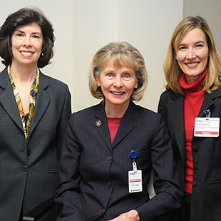 An economic recovery Webinar made Rep. Lois Capps, D-Santa Barbara, the center of attention Friday, along with Laura McCormick of Citrix Online, left, and Kristen Amyx, president and CEO of the Goleta Valley Chamber of Commerce.