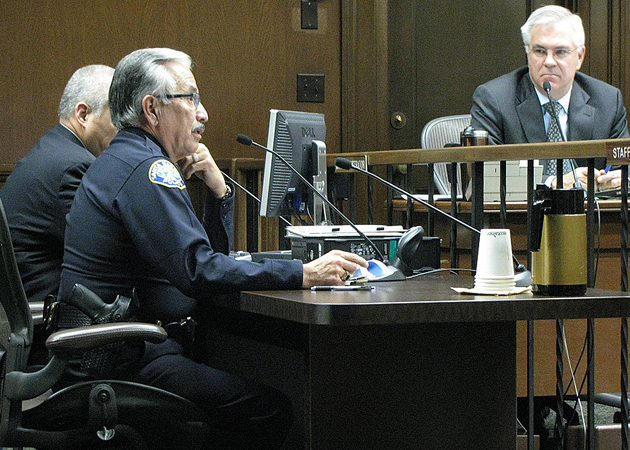 Santa Barbara Police Chief Cam Sanchez told the City Council Tuesday that the realignment process for state prisoners has led to a spike in local crimes, especially burglary. (Giana Magnoli / Noozhawk photo)