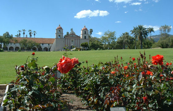 <p>The scenic Mission Rose Garden, known as the A.C. Postel Memorial Rose Garden, contains more than 1,500 rose bushes.</p>