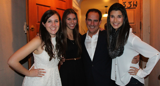 <p>Joe Lambert, center, founder and executive producer of Teen Star Santa Barbara, 2013 Rising Star winner Chelsea Chaput, 2013 Teen Star winner Allie Nixon and 2012 Teen Star winner Rachel La Commare bring the star power to Tuesday night&#8217;s media launch of Teen Star Santa Barbara.</p>