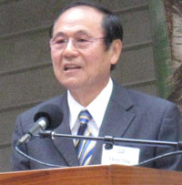 UCSB Chancellor Henry Yang was on hand for Monday's groundbreaking