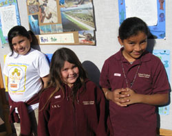 Cesar Chavez Charter School students share with visitors what they have learned through the Channel Islands National Marine Sanctuary's outreach program