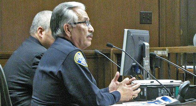 Santa Barbara Police Chief Cam Sanchez backtracked this week on statements he made about the affect of state prisoners released locally on the city's crime rate. (Giana Magnoli / Noozhawk photo)