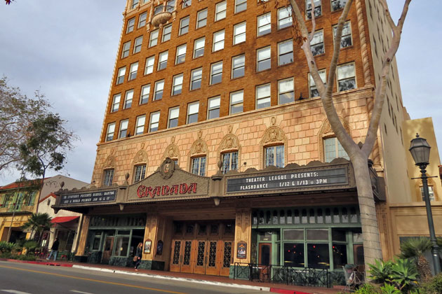Four floors of the iconic Granada Tower in downtown Santa Barbara have been offered for sale at $11,575,000.