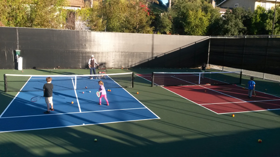<p>The Tennis Whizz program at Swell Cathedral Oaks Athletic Club in Goleta introduces 3- and 4-year-olds to the sport.</p>