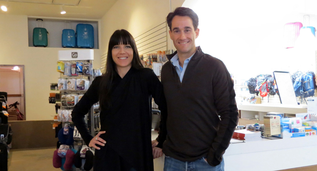 <p>Vita Travel Store owner Greg Bellowe and business partner Michelle King, sporting Icebreaker travel wear, have teamed up to open the high-tech, one-stop travel option on West Anapamu Street in Santa Barbara.</p>