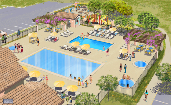 <p>Two pools and three spas are among the amenties at the Towbes Group&#8217;s new Willow Springs apartment complex in Goleta.</p>