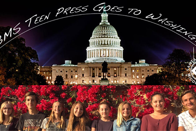 <p>Santa Barbara Middle School students have full itinerary during travels to nation&#8217;s capital.</p>