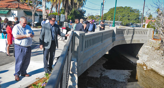 <p>A new bridge on Chapala Street over Mission Creek in Santa Barbara was dedicated Tuesday by city officials and neighbors.</p>
