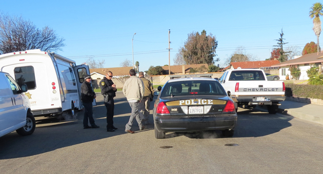 <p>Investigators continued their work on the 1100 block of Sunset Avenue in Santa Maria on Monday, the day after officers shot and killed a man they say threatened them after stabbing his wife.</p>