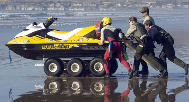 <p>Search crews were quickly on the scene of a small-plane crash off Oceano, but no victims have been recovered.</p>