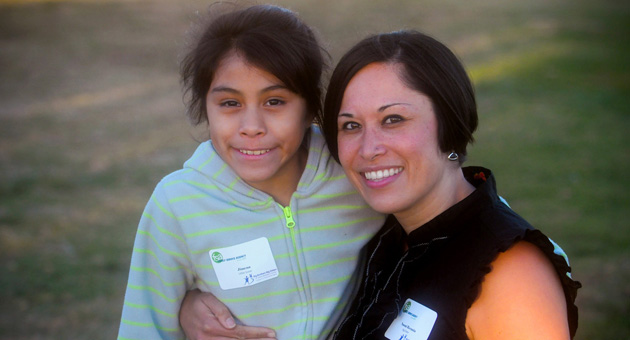 "<p>Naomi Recania and her ""little,"" 9-year-old Jimena, join Thursday's Shoreline Park ceremony hosted by Big Brothers Big Sisters of Santa Barbara County in honor of National Mentoring Month.</p>"