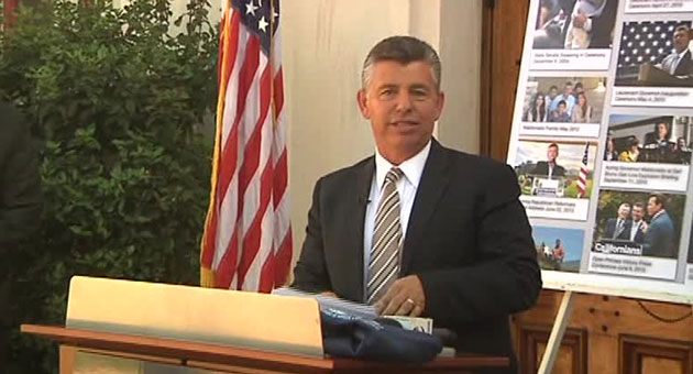 <p>Abel Maldono held a press conference in Santa Maria Thursday to announce that he was withdrawing from the race for governor of California.</p>