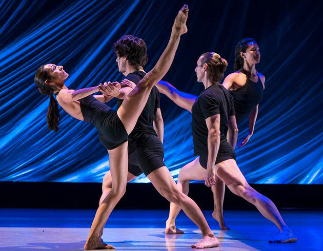 <p>In Santa Barbara Dance Theater&#8217;s <i>Leap of Faith</i>, dancers Christina Sanchez, from left, Kyle Castillo, Tracy Ray Kofford and Monica Ford showcase their strengths and individuality.</p>