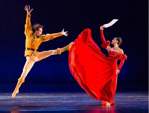 "<p>Kyle Castillo and Monica Ford perform José Limón's most famous work, ""The Moor's Pavane,"" reconstructed by Alice Condodina, in Santa Barbara Dance Theater&#8217;s ""Time in Motion.&#8221;</p>"