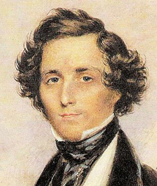 This watercolor of Felix Mendelssohn by James Warren Childe dates from 1829, the year the composer began his 'Scottish' symphony.