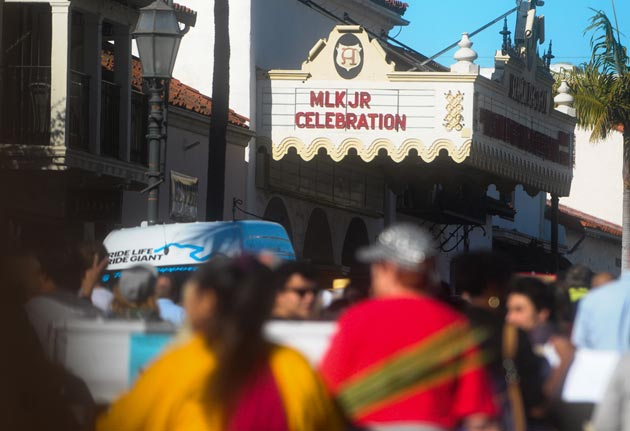 The parade culminated in a program at the Arlington Theatre.