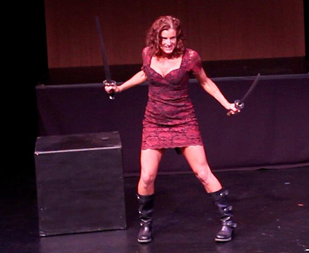 Lisa Citore, a performance artist, ritualist and a teacher of Tantra yoga, will perform her stand-up comedy show Keep It Wet at 7:30 p.m. Thursday at Center Stage Theater. (Spencer Weiner photo)