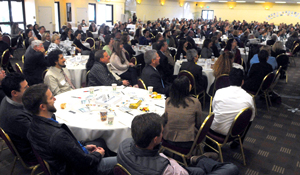 More than 500 people attended Wednesday's Partners in Education breakfast at the Earl Warren Showgrounds in Santa Barbara. (Lara Cooper / Noozhawk photo)