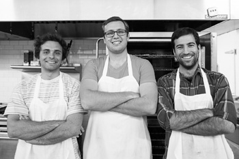 Geoff Jensen, left, Andrew Elia and Jeff Appareti have teamed up to launch Genuine Bread Company. (Genuine Bread Company photo)