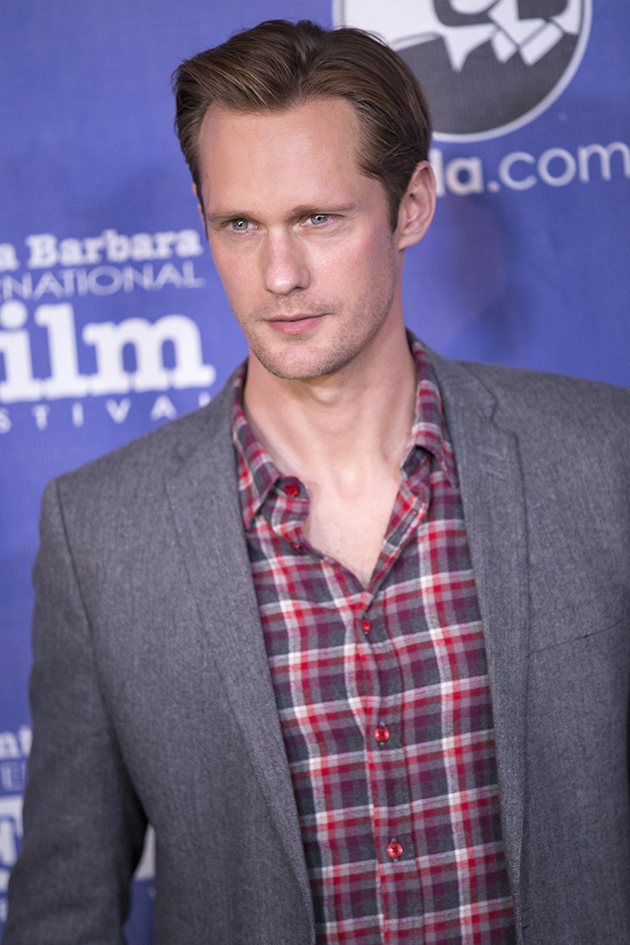 Actor Alexander Skarsgård poses on the red carpet for the Jan. 24 opening night of the 28th annual Santa Barbara International Film Festival.