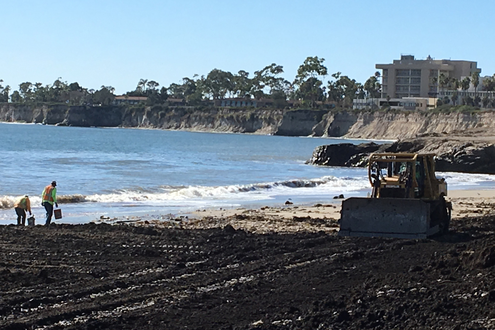 How montecito mud ends up at goleta beach during debris removal 9 debris flow in montecito on a portion publicscrutiny Choice Image
