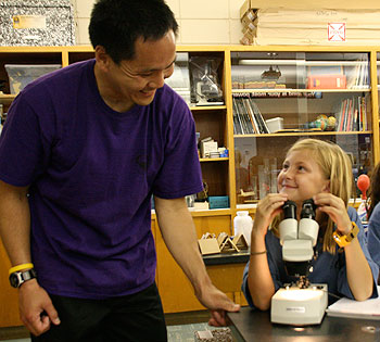 Marymount School's science lab is teeming with smiles.
