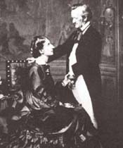 That famously devoted couple, Cosima Liszt von Bülow and her loving husband, Hans.