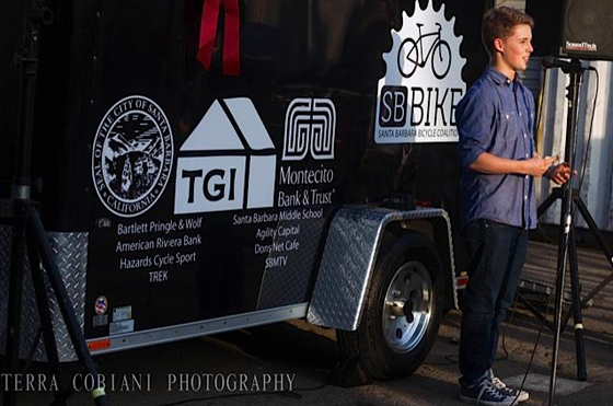 <p>Santa Barbara High School senior Dylan Carmody helped the Santa Barbara Bicycle Coalition secure a new mobile bike fleet.</p>