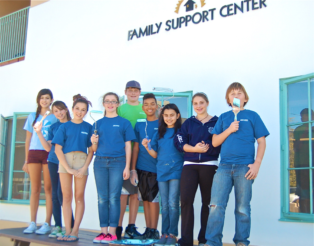<p>Santa Barbara Middle School students grab paint brushes to brighten Transition House&#8217;s child care center.</p>