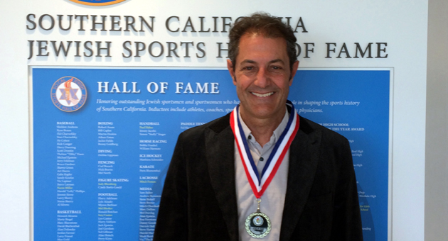 <p>Local surfing legend Shaun Tomson was inducted Sunday into the Southern California Jewish Sports Hall of Fame.</p>