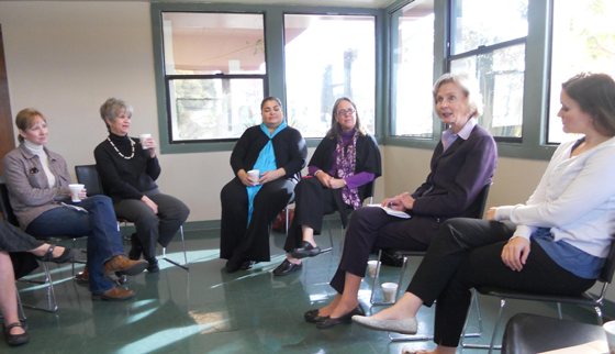 Rep. Lois Capps, D-Santa Barbara, second from right, discusses public policy issues with members of the Lompoc Business Women's Network and Women's Economic Development Group. (Rep. Lois Capps courtesy photo)