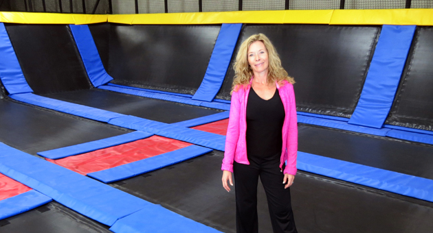 <p>Cloud 10 Jump Club&#8217;s Suzanne Wolfe Jewell says teaching that fitness is fun will be a priority for the trampoline park, set to open Feb. 14 in Goleta's Turnpike Center.</p>