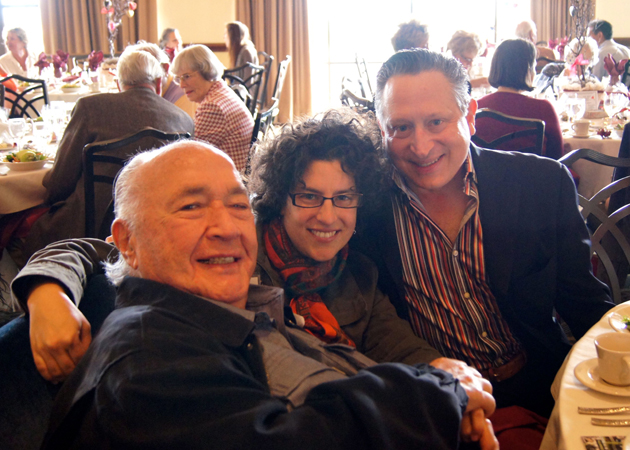 Andy Granatelli, left, Santa Barbara Mayor Helene Schneider and Ron Gallo at last year's Friendship Center Festival of Hearts. (Friendship Center photo)
