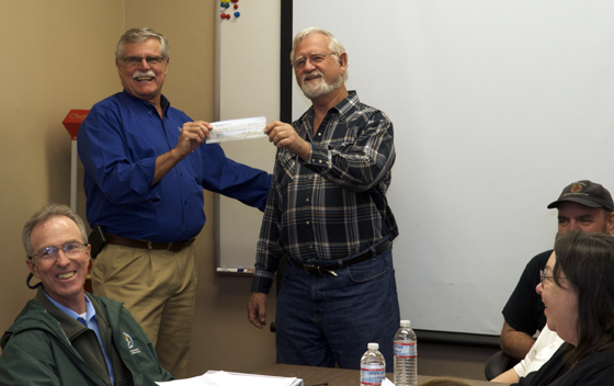 <p>The Lompoc Firefighters Foundation gives $60,000 toward securing the necessary equipment for the Lompoc Fire Department&#8217;s new Rescue Squad vehicle.</p>