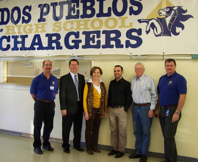 <p>Rotary Club of Goleta members, from left, Scott Missman, Marty Plourd, Lynn Cederquist, Brian Rocha, John Hanna and Paul Clayton are among the many volunteers who participate in the annual student mock interviews at Dos Pueblos High School.</p>